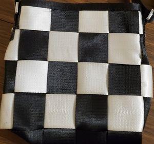 Seat Belt Bag Crossbody Checker Black White purse